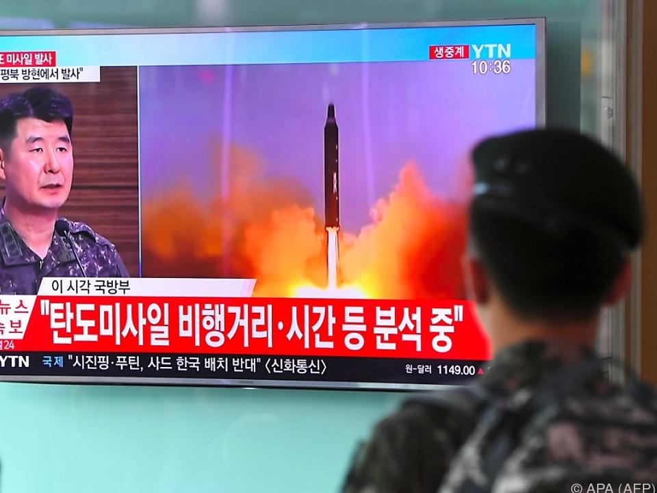 Neuer Raketentest sorgt für Ärger in Südkorea, Japan und den USA