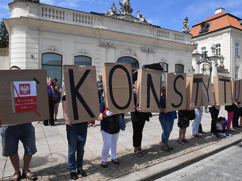 Nicht alle in Polen sind mit der Arbeit der Polizei einverstanden