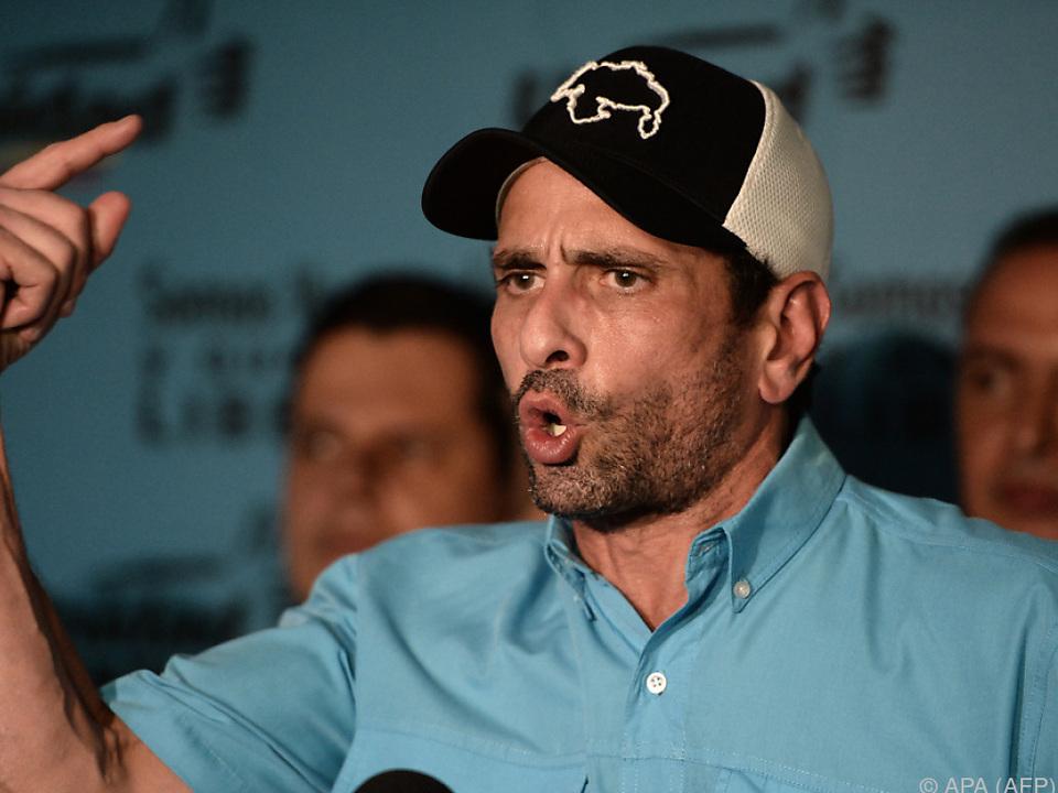 Oppositionsführer Capriles rief zu Protesten auf