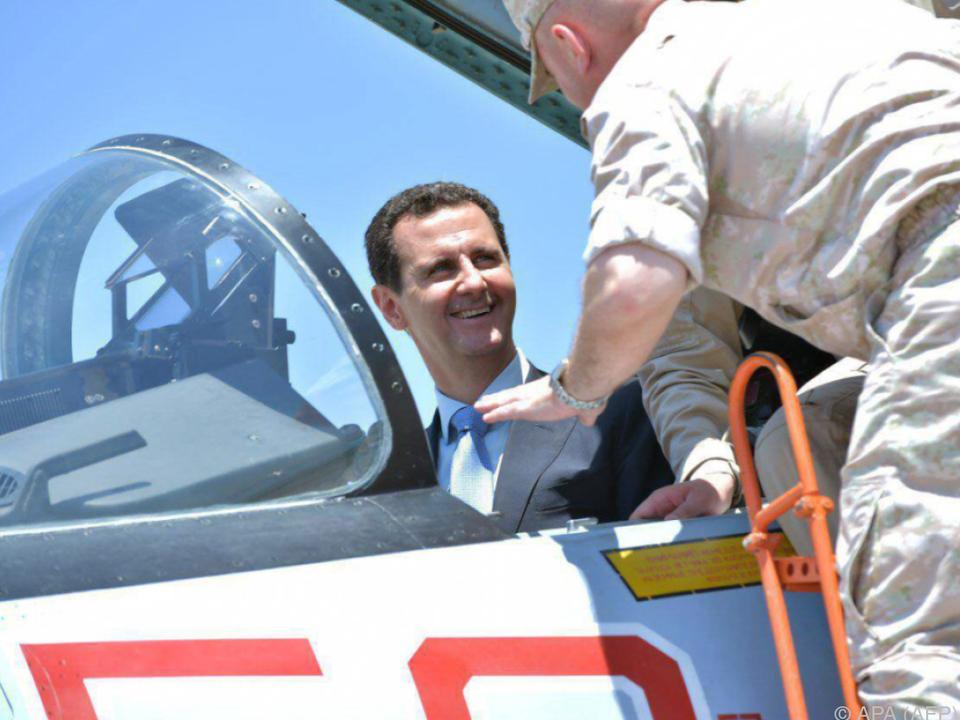 Präsident Assad bestreitet den Einsatz von Giftgas
