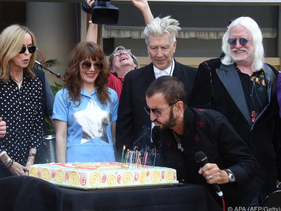 Ringo Starr feierte mit prominenten Freunden in Los Angeles