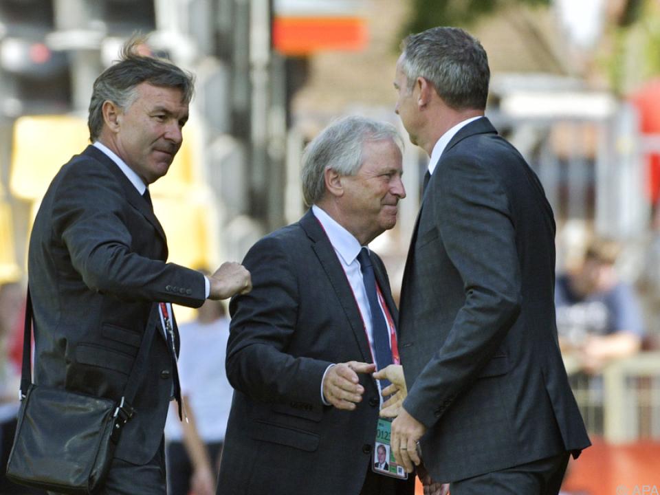 Ruttensteiner, Windtner und Coach Thalhammer