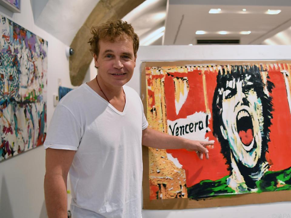 Sascha Wussow zeigt seine Werke