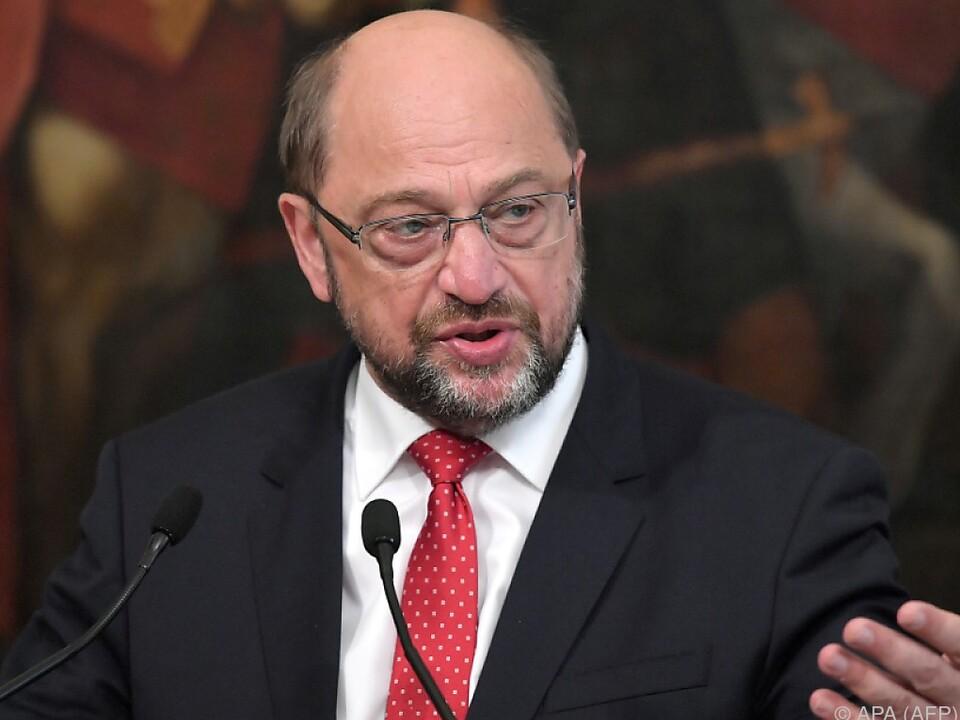 Schulz wil das verantwortliche Amt schwächen