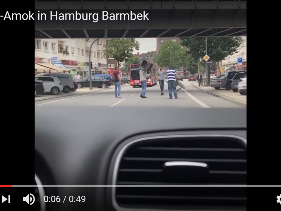 YouTube/Loritus News -Messer-Amok in Hamburg Barmbek