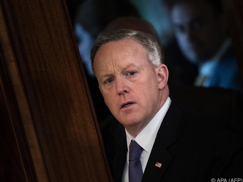 Sean Spicer nannte keinen Grund für seinen Rücktritt