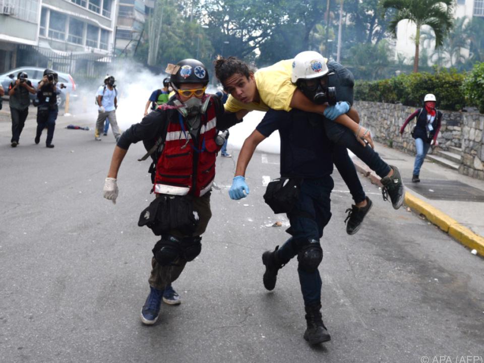 Seit April gehen die Menschen in Venezuela auf die Straße