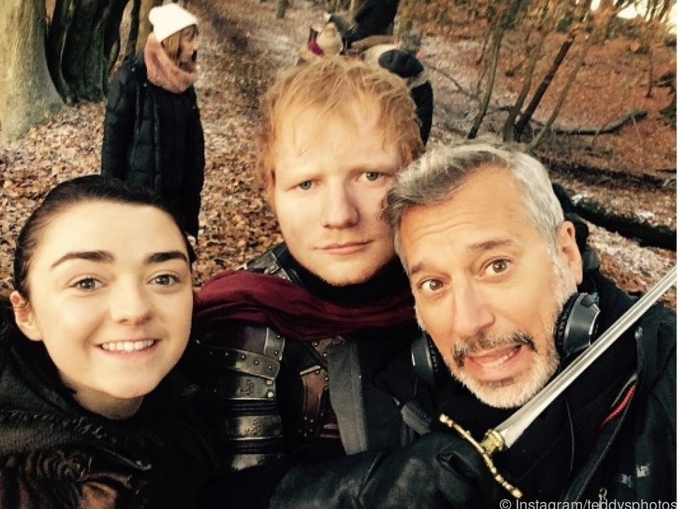 Sheeran postete auf Instagram Bilder von den Dreharbeiten