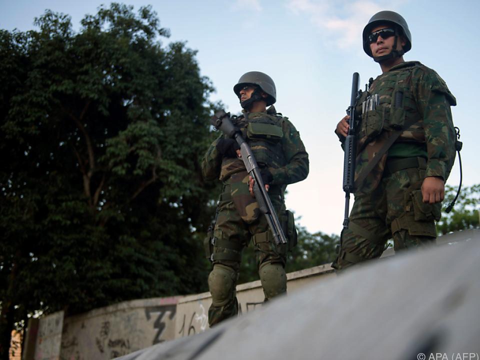 Soldaten sollen gegen Kriminalität ankämpfen