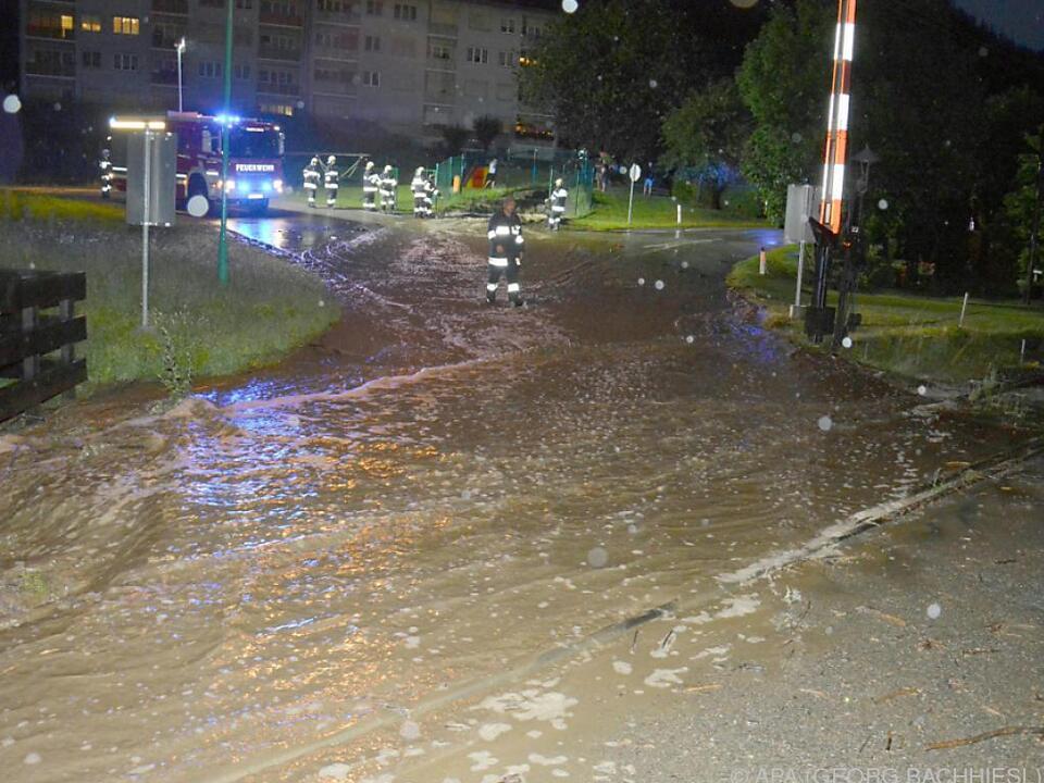 Überschwemmungen im Bezirk Wolfsberg