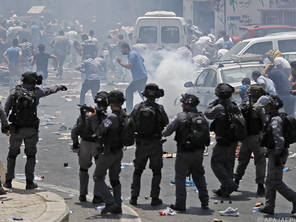 Unruhen vor Jerusalems Altstadt