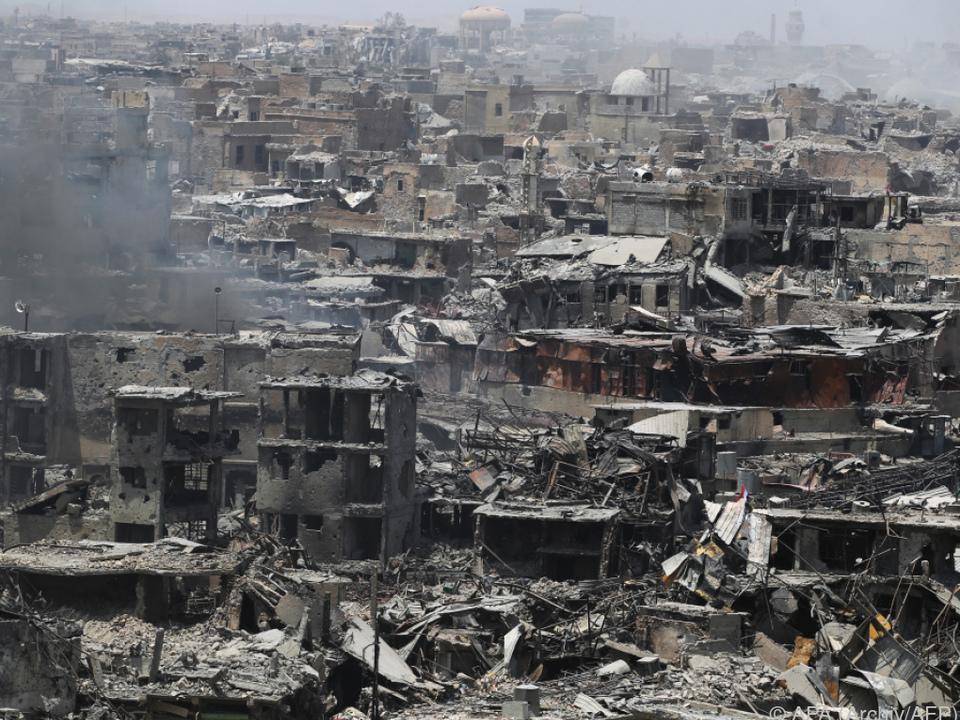 Viele Häuser in Mosul zerstört