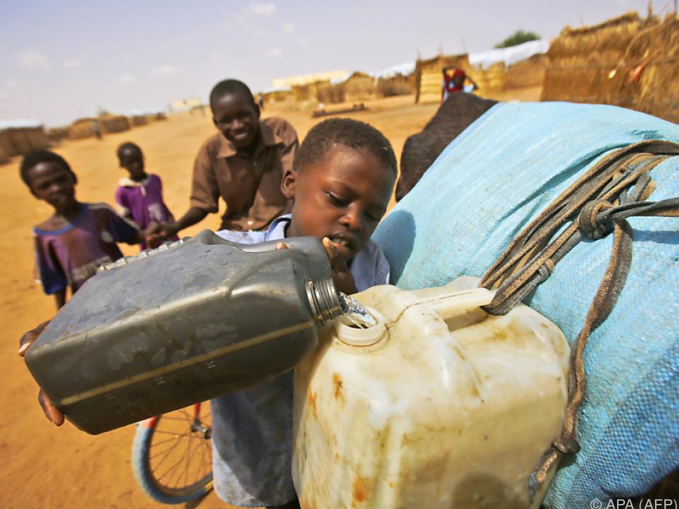 Wasser ist durch die Dürre Mangelware