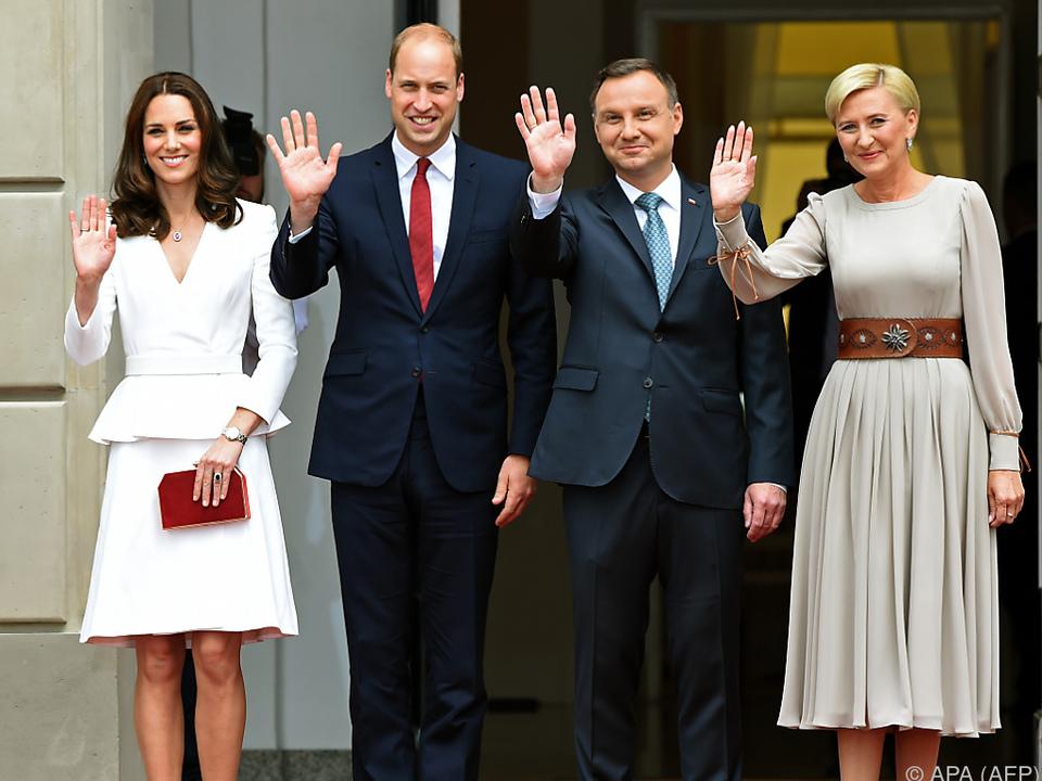 William und Kate wurden herzlich empfangen