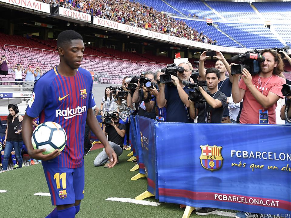 Barca-Fans dürfen Millionen-Transfer Dembele vom 2. Rang zujubeln