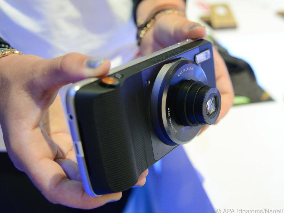 Kameraufsatz für das Moto Z von Hasselblad
