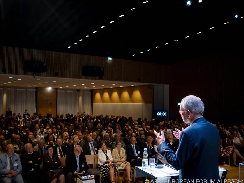 Bundespräsiden Van der Bellen plädierte für ein Miteinander in der EU