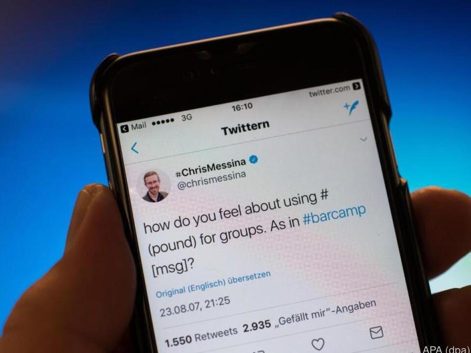 Der erste Tweet mit einem Hashtag wurde am 23. August 2007 abgeschickt