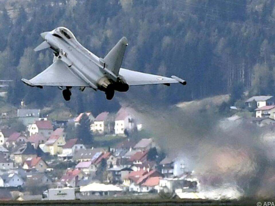 Der Eurofighter in Österreich steht vor der Ablösung