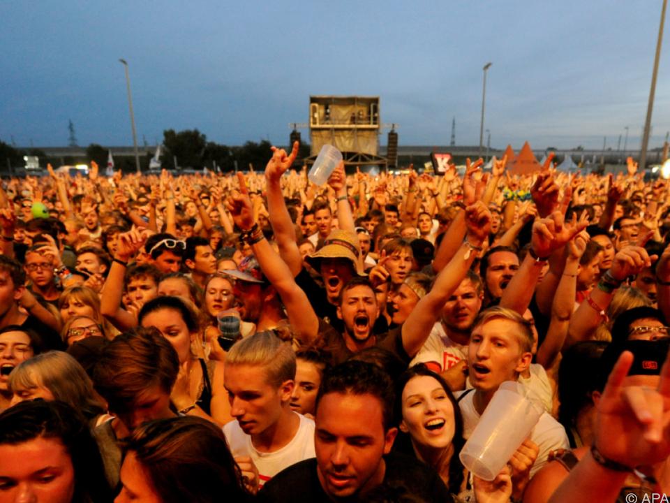 Die Festivalgeher feierten friedlich und ausgelassen