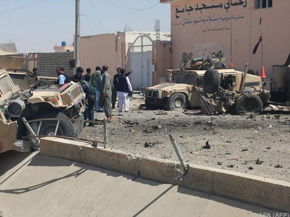 Die Taliban bekannten sich zu dem Anschlag