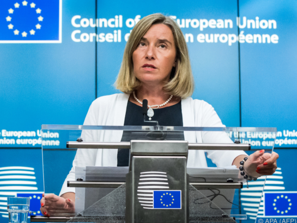 EU-Außenbeauftragte Mogherini: Alle Optionen auf dem Tisch