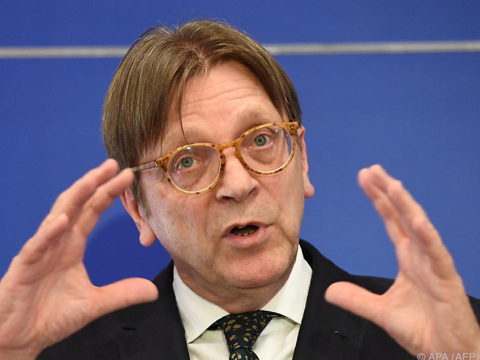 EU-Brexit-Beauftragter Verhofstadt möchte eine Übergangsperiode