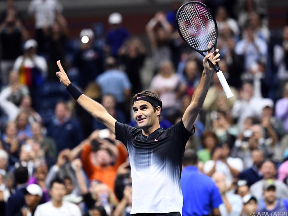 Federer musste in der Night Session über die volle Distanz gehen