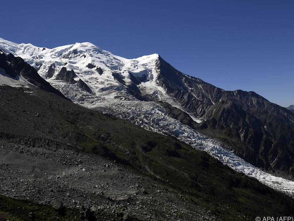 Gletscher am Mont Blanc gab Leichen frei
