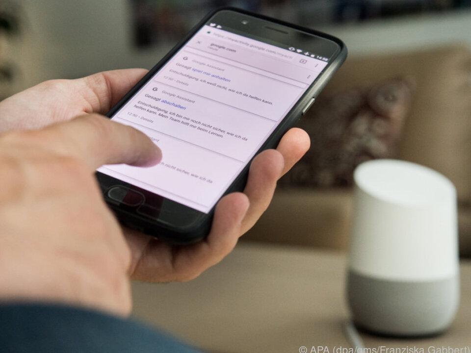 In der App können u.a. gesprochene Befehle eingesehen werden