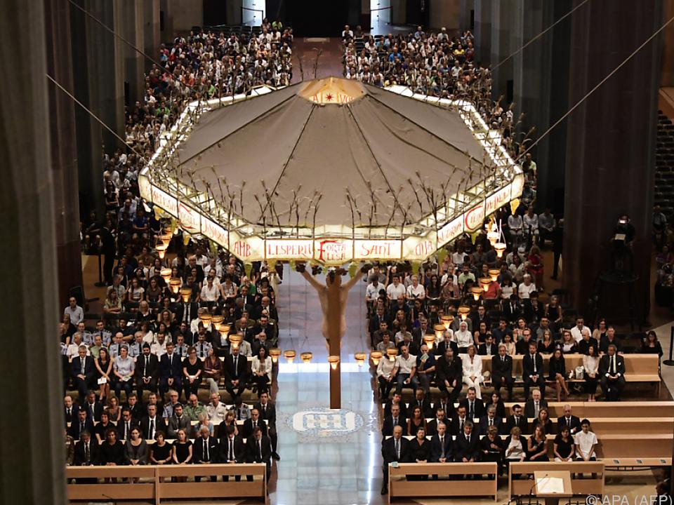 In der Sagrada Familia wurde der Terroropfer gedacht