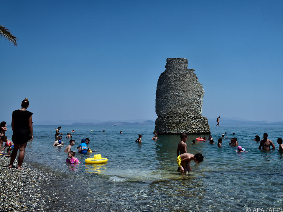 In Griechenland wird Abkühlung dringend gesucht