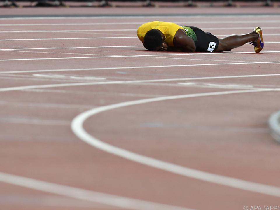 Kein Glück für Usain Bolt bei seiner letzten WM