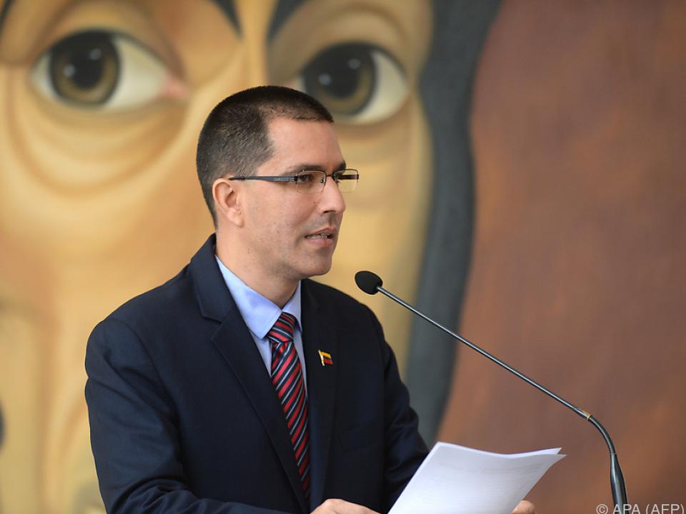Klare Worte von Außenminister Arreaza