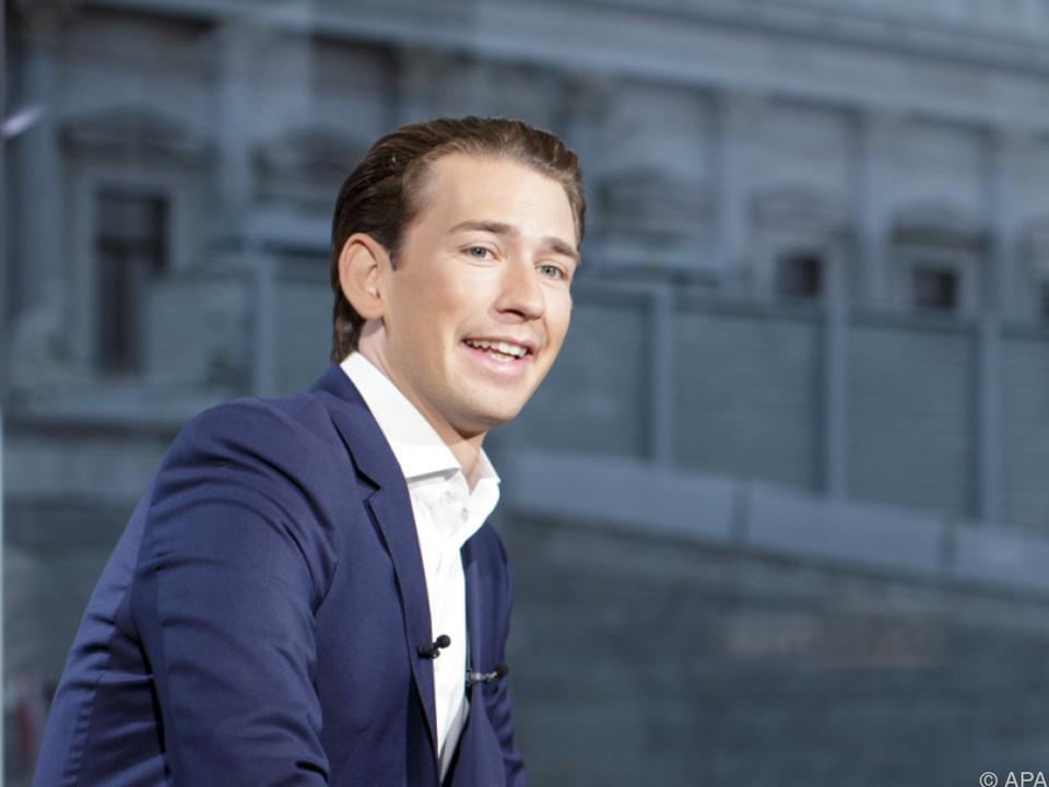 Kurz im ORF-\