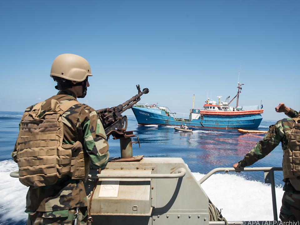 Libysche Küstenwache tut was sie kann