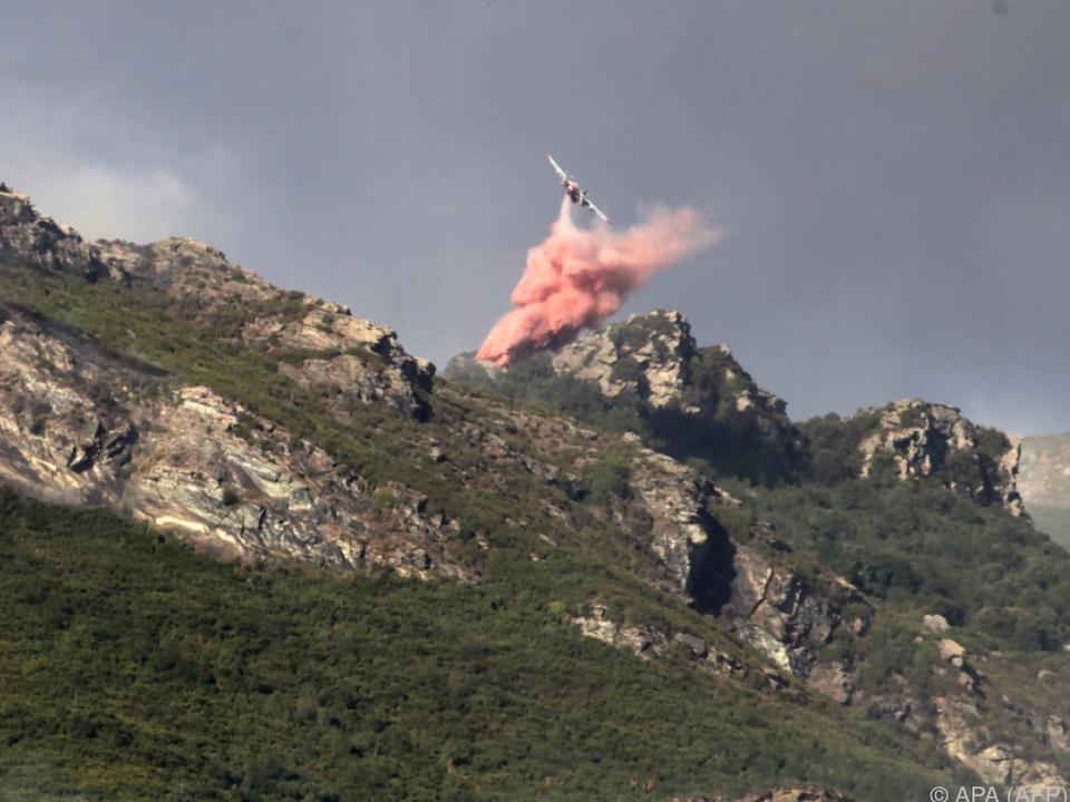 Löschflugzeuge im Einsatz gegen die Brände
