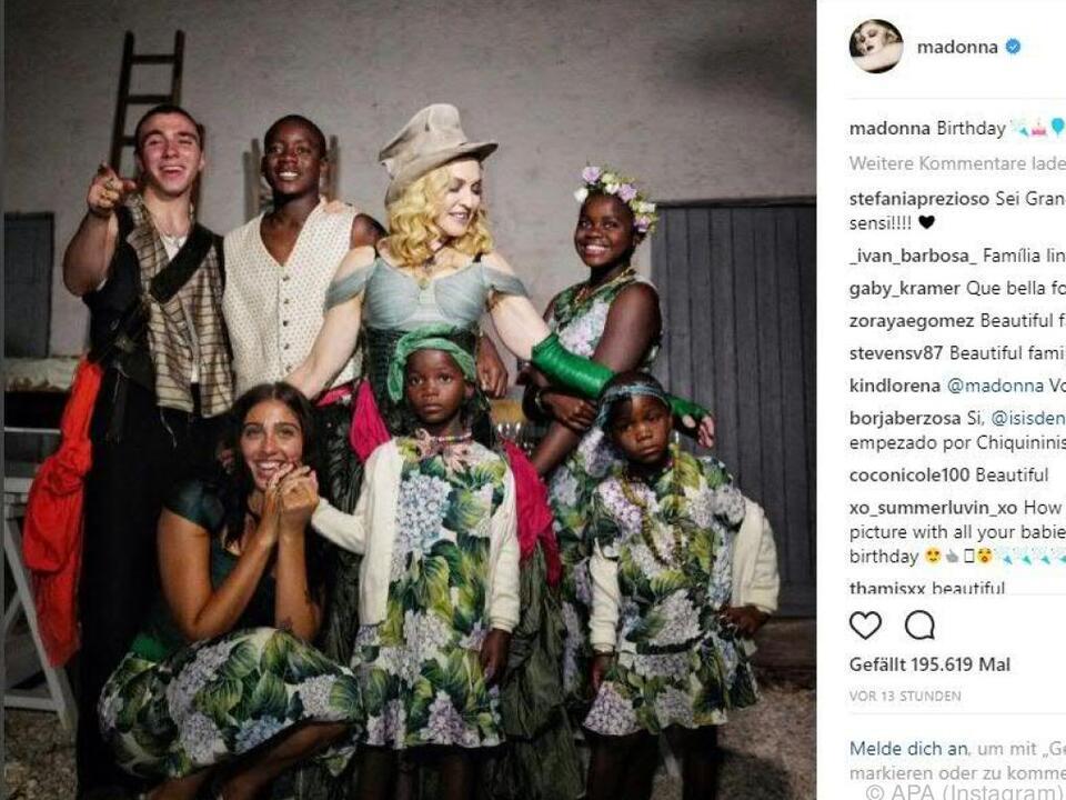 Madonna feierte mit ihren Kindern Geburtstag