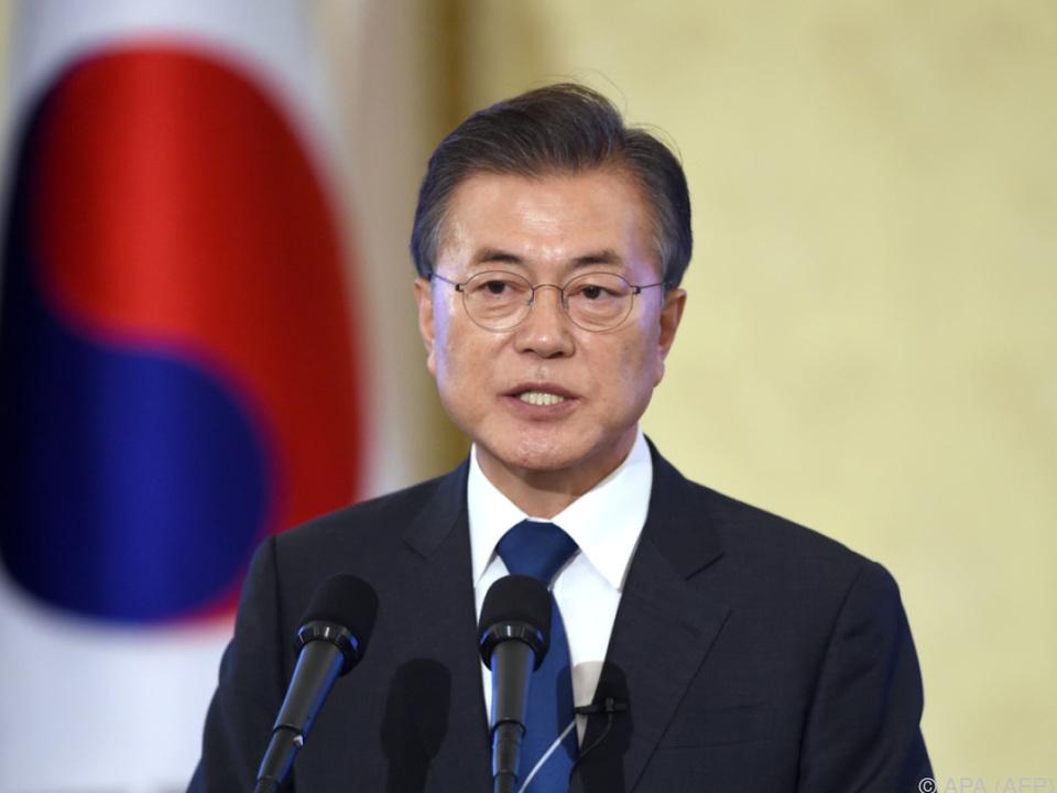 Moon Jae-in ist in großer Sorge