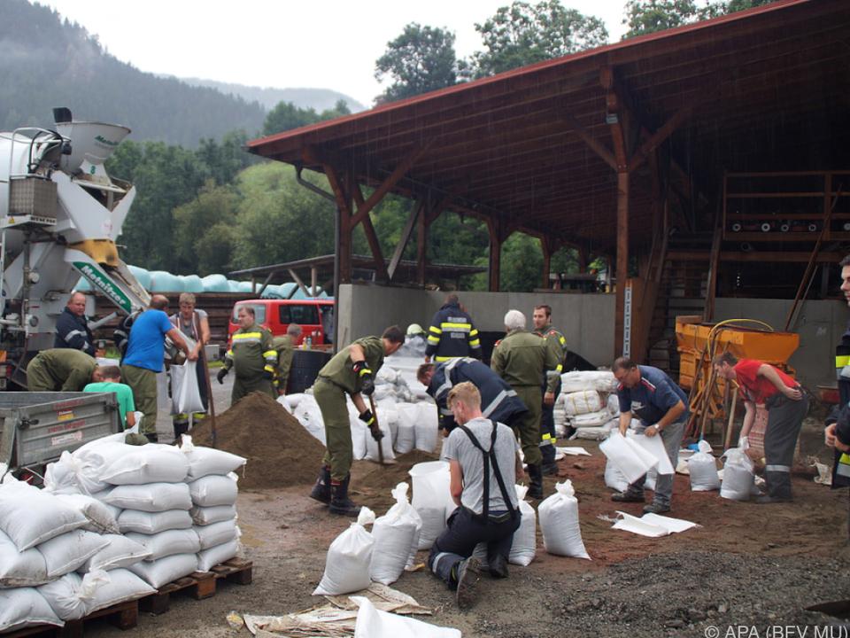 Obersteiermark und Salzburger Gebirgsgaue betroffen