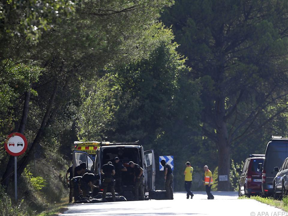 Polizeieinsatz in der Nähe von Barcelona