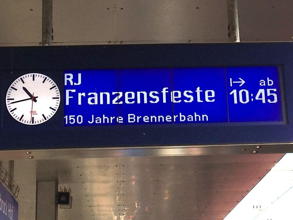 tafel Zug Franzensfeste