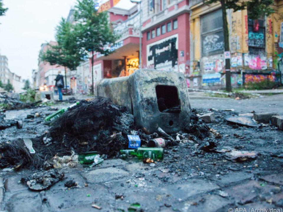 Teile der Stadt wurden verwüstet