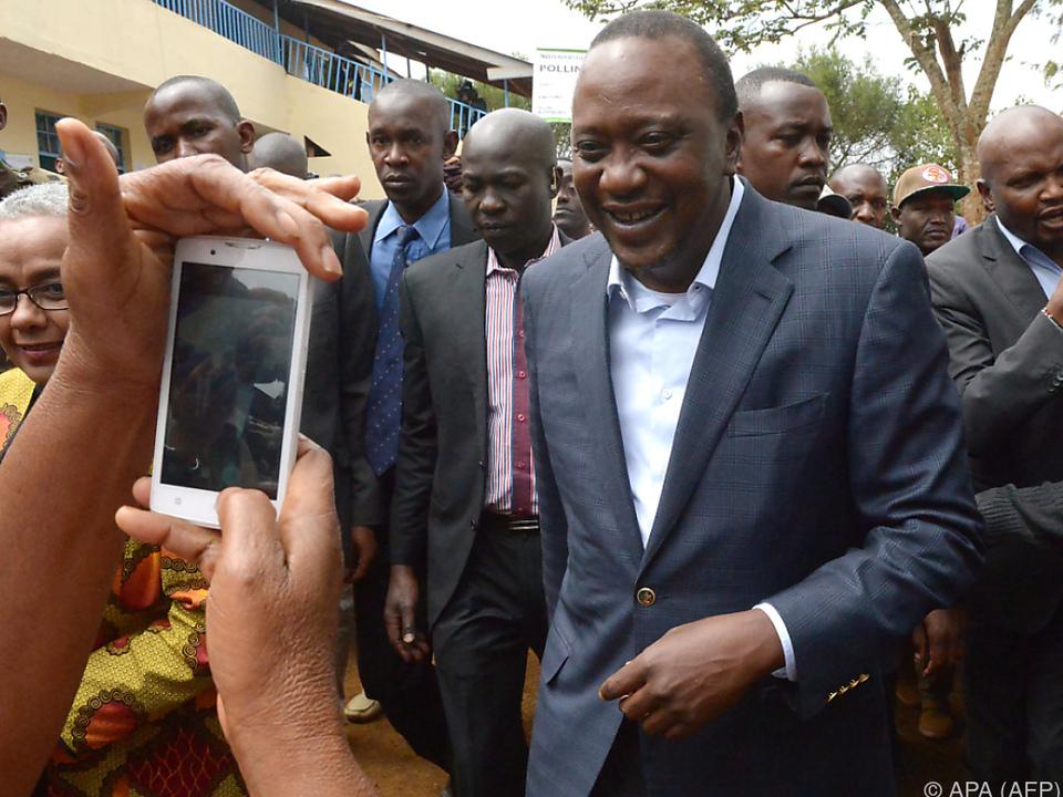 Uhuru Kenyatta steht eine zweite Amtszeit bevor