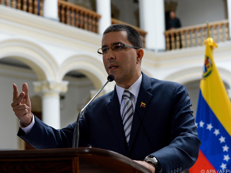 Venezuelas Außenminister Jorge Arreaza kritisiert Maßnahmen der USA
