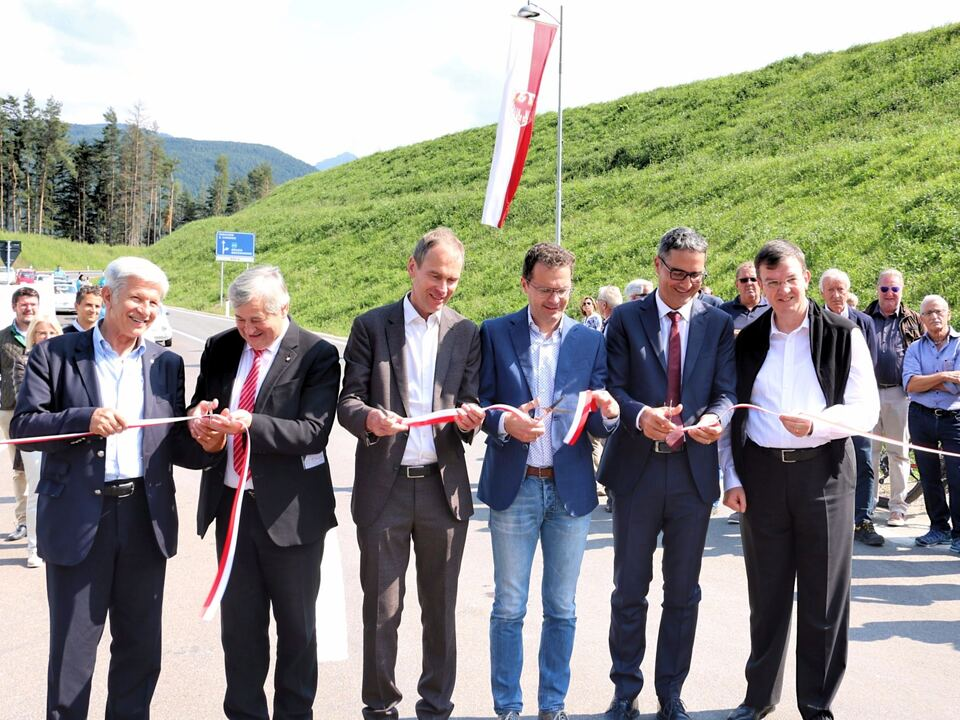 Bruneck Ausfahrt Mitte Eröffnung