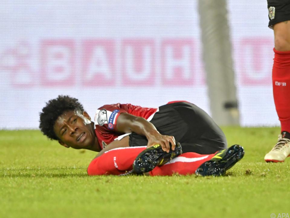 Alaba erlitt Sprunggelenksverletzung