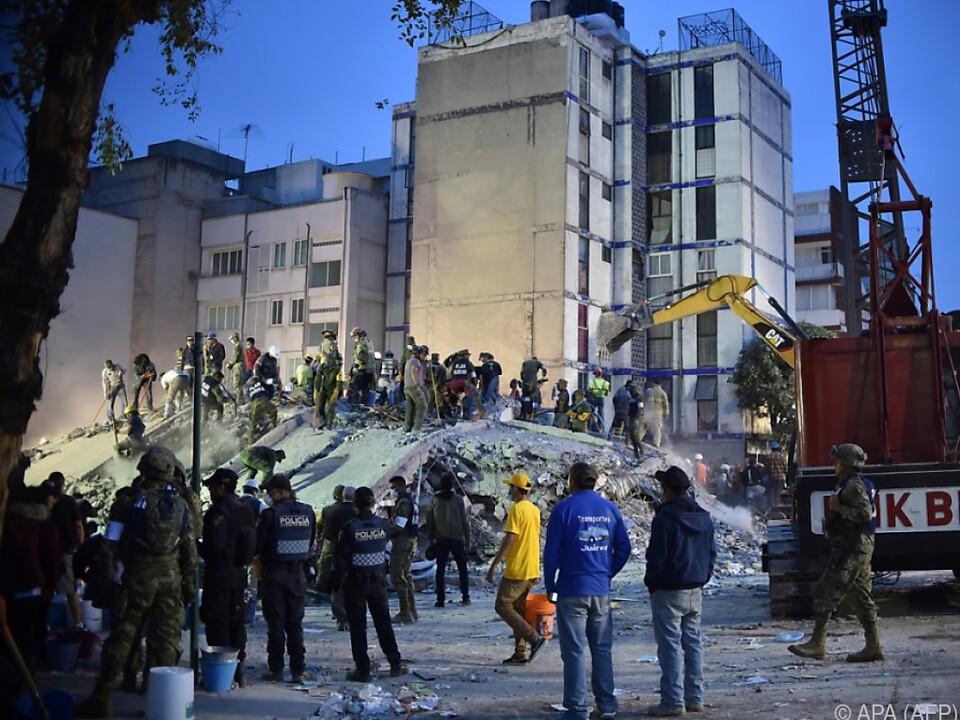 Allein in Mexiko-Stadt kamen 192 Menschen ums Leben