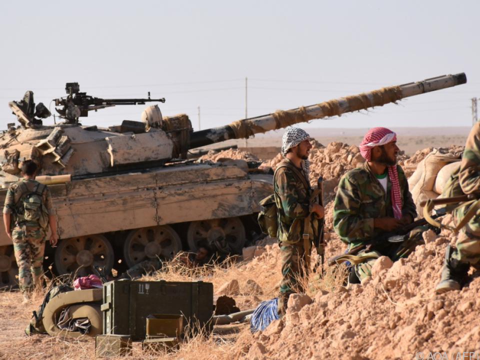 Auch syrische Truppen rücken vor