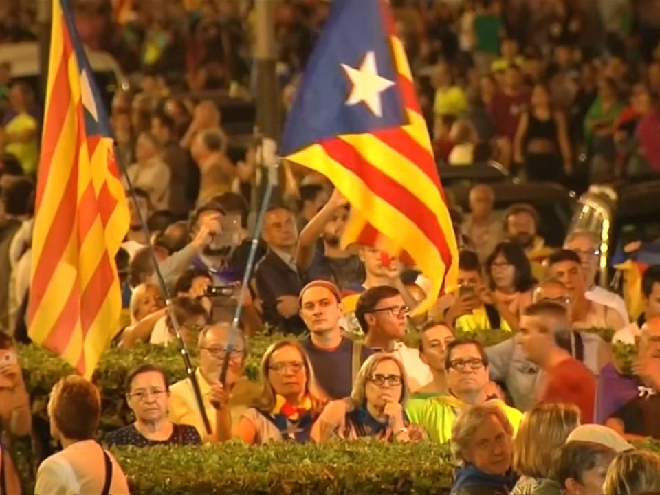 Barcelona: Abschlusskundgebung vor Referendum